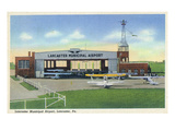 Lancaster, Pennsylvania - Municipal Airport Scene Prints by  Lantern Press