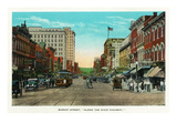 Chattanooga, Tennessee - View of Market Street, Along the Dixie Highway Poster von  Lantern Press