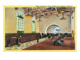 Los Angeles, California - Union Station Ticket Concourse View Prints by  Lantern Press