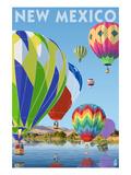 Lantern Press - Hot Air Balloons - New Mexico - Sanat