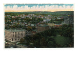 Hartford, Connecticut - Capitol Building Aerial View of City Prints by Lantern Press