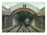 View of a Train Exiting a Tunnel Posters by  Lantern Press
