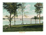 Saratoga Springs, New York - View of Saratoga Lake Lminas por Lantern Press