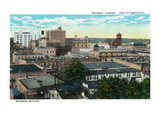 Orlando, Florida - Rooftop View of the City's Business Section Prints by  Lantern Press