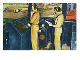 San Antonio, Texas - Randolph Field Control Tower Interior Scene Posters by  Lantern Press