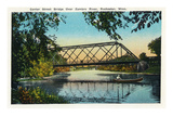 Rochester, Minnesota - View of the Center Street Bridge over the Zumbro River Prints by  Lantern Press