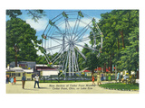 Cedar Point, Ohio - New Section on Cedar Point Midway on Lake Erie Poster by  Lantern Press
