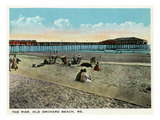Old Orchard Beach, Maine - View of the Pier Prints by  Lantern Press