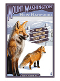 Mt. Washington, New Hampshire - Fox Scene Poster by  Lantern Press