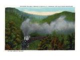 Blue Ridge Mountains, North Carolina - Southern Rail Co Train Scene Prints by  Lantern Press