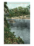 Rochester, New York - Upper Genesee River Scene Láminas por Lantern Press