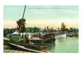 Auburn, New York - Owasco Outlet at Lakeside Park Prints by Lantern Press