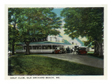 Old Orchard Beach, Maine - Golf Club Exterior Poster by  Lantern Press