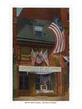 Philadelphia, Pennsylvania - Betsy Ross House with US Flags Art by Lantern Press