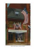 Philadelphia, Pennsylvania - Betsy Ross House with US Flags Art by  Lantern Press