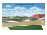 Oak Ridge, Tennessee - Panoramic View of Oak Ridge High School and Grounds Prints by  Lantern Press