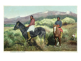Arizona - Navajo Men on Horseback Kunstdrucke von  Lantern Press