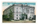 Hartford, Connecticut - Municipal Building Exterior Art by  Lantern Press