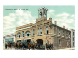 St. Joseph, Missouri - Central Fire Station Exterior View Print by  Lantern Press