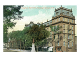 Saratoga Springs, New York - Congress Hall Hotel Exterior View Poster by  Lantern Press