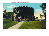 Fort Snelling, Minnesota - Exterior View of the Old Round Tower Prints by  Lantern Press