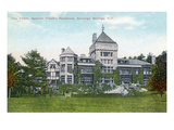 Saratoga Springs, New York - Exterior View of Yaddo, Trask Residence Prints by  Lantern Press