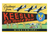 Mississippi - Keesler Air Force Base, Large Letter Scenes Poster by  Lantern Press