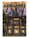 The Ahwahnee - Yosemite National Park - California Prints by  Lantern Press