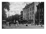 Saratoga Springs, New York - Masonic Temple from Broadway Prints by Lantern Press