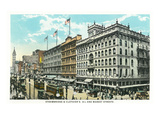 Philadelphia, Pennsylvania - Strawbridge and Clothiers Building Exterior Poster by  Lantern Press