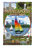 Minneapolis, Minnesota - City Scenes Posters by  Lantern Press