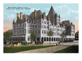 Montreal, Quebec - Place Viger Hotel and Station Exterior Prints by  Lantern Press