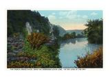 Blue Ridge Mountains, North Carolina - French Broad River Scene Affiches van  Lantern Press