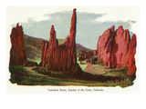 Colorado Springs, Colorado - Garden of the Gods, Cathedral Spires View Posters by  Lantern Press