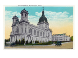 Minneapolis, Minnesota - Exterior View of the Pro-Cathedral Poster by  Lantern Press