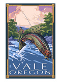 Vale, Oregon - Fisherman Scene Prints by  Lantern Press