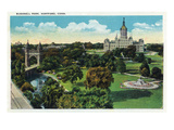 Hartford, Connecticut - Bushnell Park Scene Art by  Lantern Press