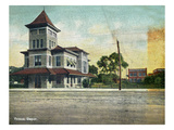 Wichita, Kansas - Exterior View of Frisco Train Depot Prints by Lantern Press
