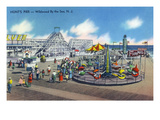 Wildwood, New Jersey - Wildwood-By-The-Sea Hunt's Pier Prints by  Lantern Press