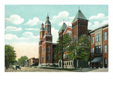 Syracuse, New York - Church of the Assumption Exterior View Art by  Lantern Press