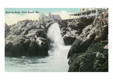 York Beach, Maine - Roaring Rock Scene Prints by Lantern Press 