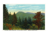 Blue Ridge Mountains, North Carolina - Great Craggy Mountains View Kunstdruck von  Lantern Press