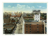Kansas City, Missouri - Aerial View of the City Poster von  Lantern Press