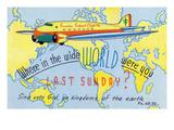 Sunday School Clipper, Where Were You Last Sunday Poster by  Lantern Press