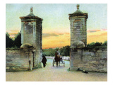 St. Augustine, Florida - View of the Old City Gate Posters by Lantern Press 