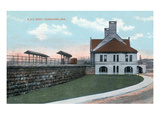 Youngstown, Ohio - Baltimore and Ohio Railway Train Depot View Poster by  Lantern Press