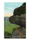 Blue Ridge Mountains, South Carolina - Caesar&#39;s Head East Side View Prints by Lantern Press 