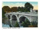 Hartford, Connecticut - Bushnell Park Hoadley Bridge Posters by  Lantern Press