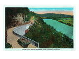 Chattanooga, Tennessee - View of Jonas Bluff Above Tennessee River on the Way to Lookout Mt Prints by  Lantern Press