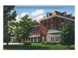 Saratoga Springs, New York - Gideon Putnam Hotel Exterior View Prints by  Lantern Press